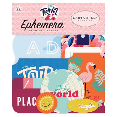 Carta Bella Let's Travel Die Cuts - Ephemera