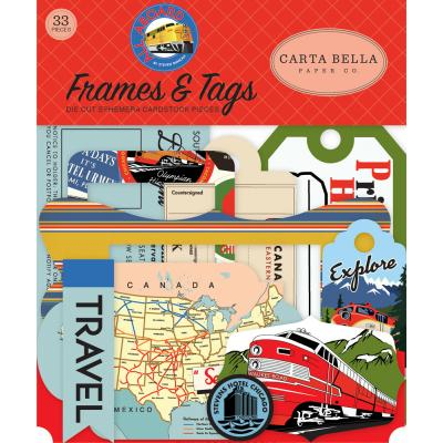 Carta Bella All Aboard - Frames & Tags