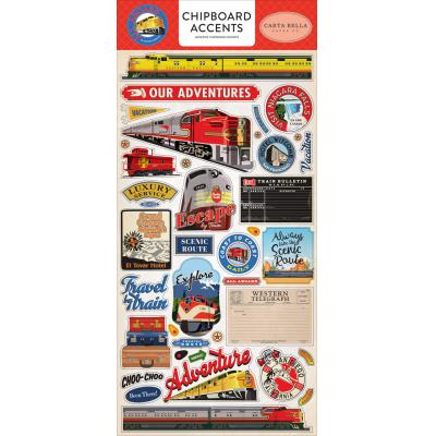 Carta Bella All Aboard Sticker - Chipboard Accents