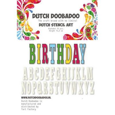 Dutch Doobadoo Schablone - Alphabet