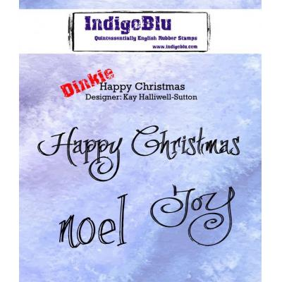 IndigoBlu Rubber Stamp A7 - Happy Christmas