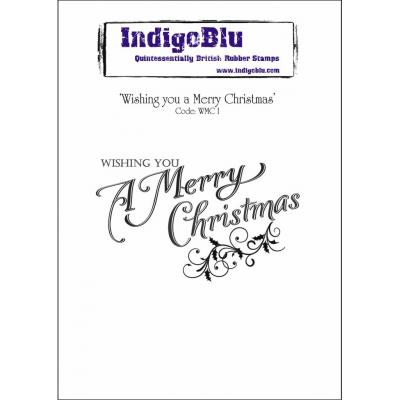 IndigoBlu Rubber Stamp A6 - Wishing You A Merry Christmas