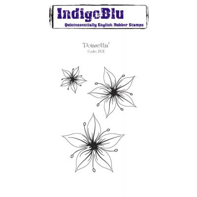 IndigoBlu Rubber Stamp A6 - Poinsettia