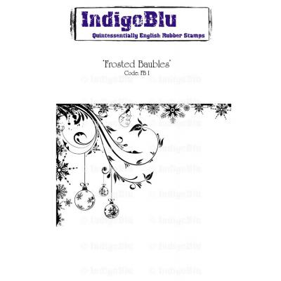 IndigoBlu Rubber Stamp A6 - Frosted Baubles