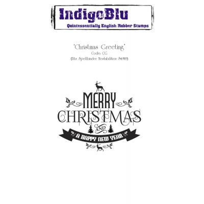 IndigoBlu Rubber Stamp A6 - Christmas Greeting
