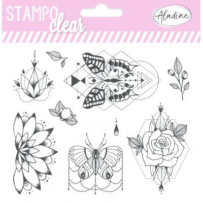 Aladine Clear Stamps -  Flowers & Butterflies