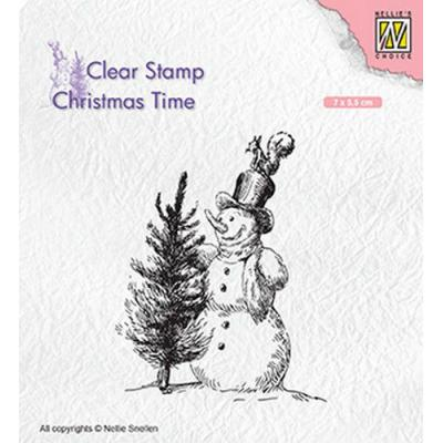 Nellies Choice Clear Stamps - Schneemann mit Baum