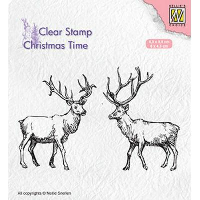 Nellies Choice Clear Stamps - Rentiere
