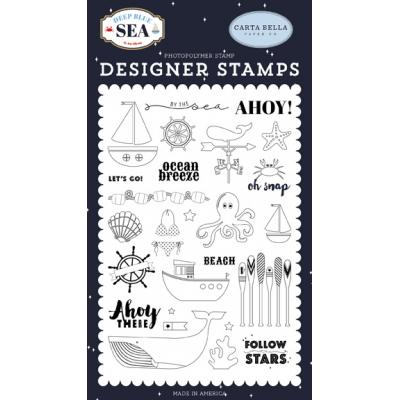 Carta Bella Deep Blue Sea Clear Stamps -  By The Sea