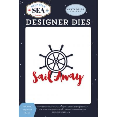 Carta Bella Deep Blue Sea Stanzschablonen - Sail Away Ship Wheel