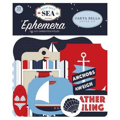 Carta Bella Deep Blue Sea Die-Cuts - Ephemera