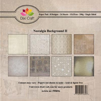 Dixi Craft Paper Pad - Nostalgia Background II