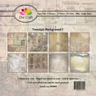 Dixi Craft Paper Pad - Nostalgia Background I