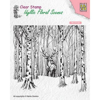 Nellies Choice Clear Stamp - Hirsch im Wald