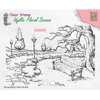 Nellies Choice Clear Stamp - Park mit Bank