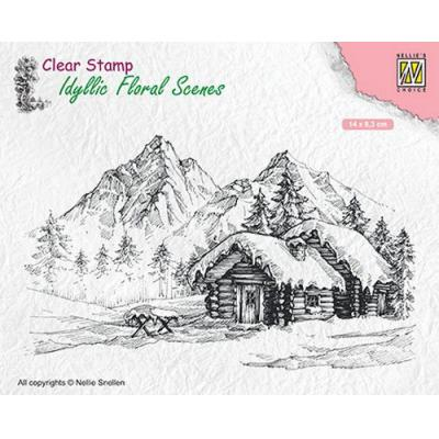 Nellies Choice Clear Stamp - Landschaft mit Haus