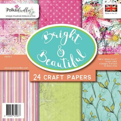 Polkadoodles Paper Pack - Bright & Beautiful
