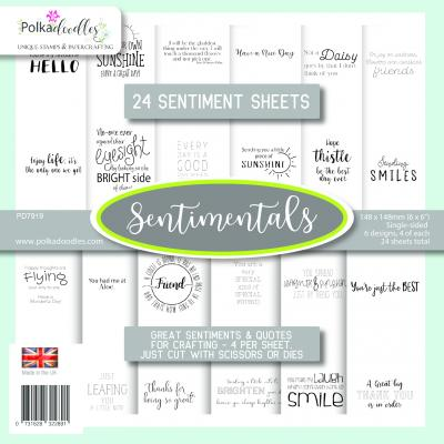 Polkadoodles Paper Pack - Sentiment