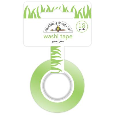 Doodlebug Down on the Farm Washi Tape - Green Grass