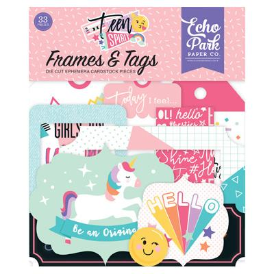 Echo Park - Teen Spirit Girl - Frames & Tags