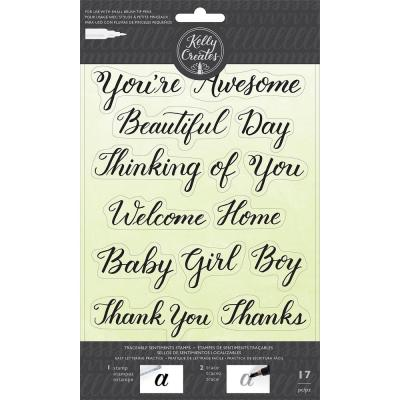 Kelly Creates - Clear Stamps - Sentiments