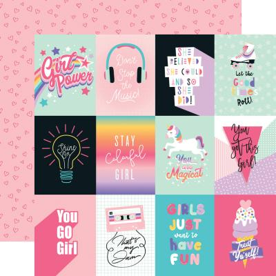 Echo Park Teen Spirit Girl Designpapier - Journaling Cards