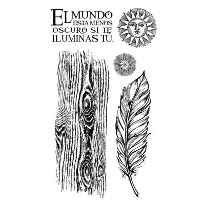 Stamperia Rubber Stamps - Cosmos Feather