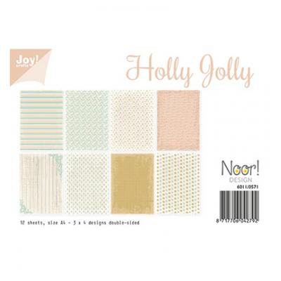 JoyCrafts Designpapier - Holly Jolly