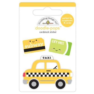 Doodlebugs I Love Travel - Taxi!