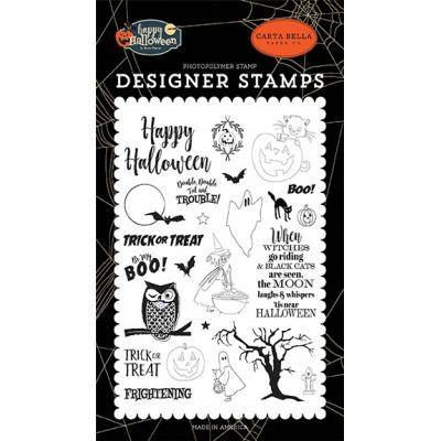 Carta Bella Happy Halloween Clear Stamps - Troil & Trouble