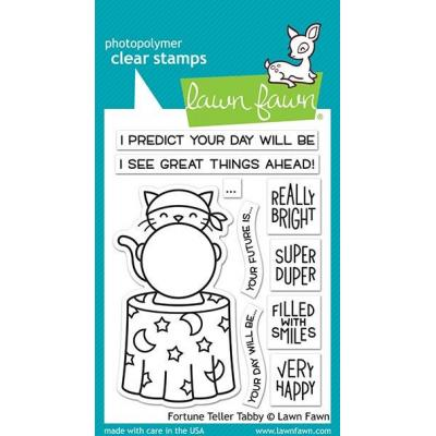 Lawn Fawn Clear Stamps - Fortune Teller Tabby