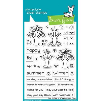 Lawn Fawn Clear Stamps - Tree Before 'n Afters