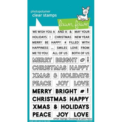 Lawn Fawn Clear Stamps - Offset Sayings: Christmas