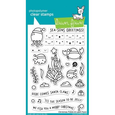 Lawn Fawn Clear Stamps - Christmas Fishes