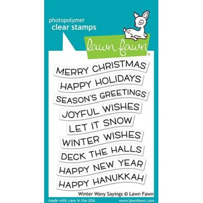 Lawn Fawn Clear Stamps - Winter Wavy Sayings