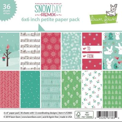 Lawn Fawn Paper Pack - Snow Day Remix Petite