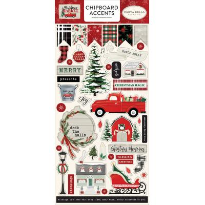 Carta Bella Christmas Market Die Cuts - Chipboard Accents
