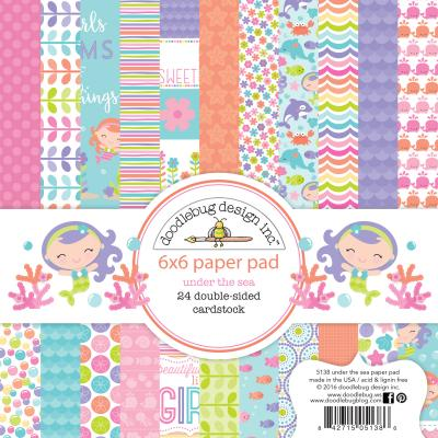 Doodlebug Under the Sea Designpapier - Paper Pad
