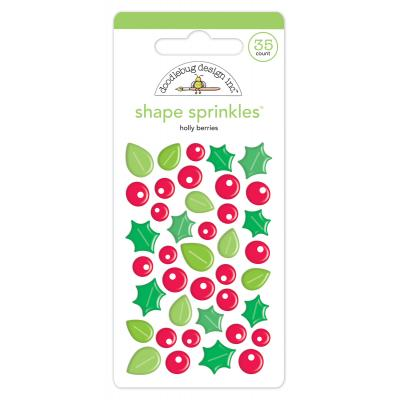 Doodlebugs Christmas Town - Holly Berries