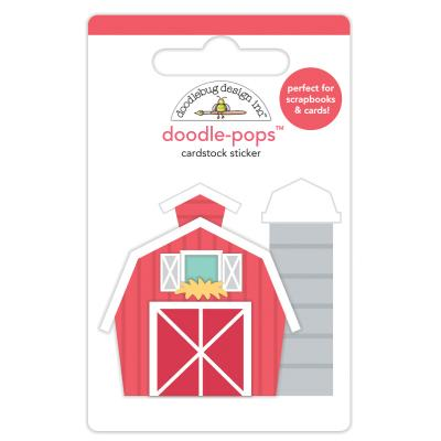 Doodlebug Down on the Farm - Doodle-Pops - Red Barn