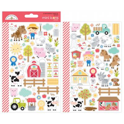 Doodlebug Down on the Farm - Mini Icons Stickers