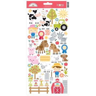 Doodlebug Down on the Farm - Cardstock Sticker