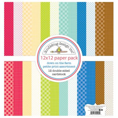 Doodlebug Down on the Farm - Petite Print Assortment Pack