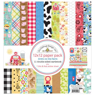 Doodlebug Down on the Farm Designpapier - Paper Pack