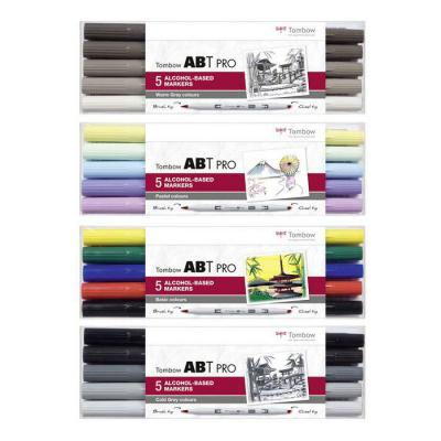 Tombow ABT PRO Alcohol - Dual Brush 5er Set