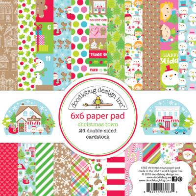 Doodlebugs Christmas Town - Paper Pad