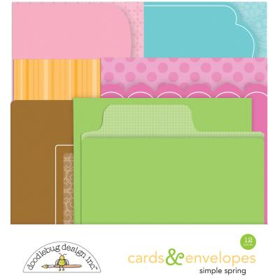 Doodlebugs Simply Spring - Cards & Envelopes