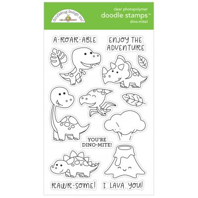 Doodlebugs Doodle Stamps - So Much Pun - Dino-Mite!