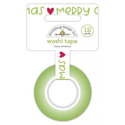 Doodlebug Night Before Christmas Washi Tape - Merry Christmas