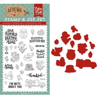 Echo Park Clear Stamps und Outline-Stanzen Celebrate Autumn - Nuts About You